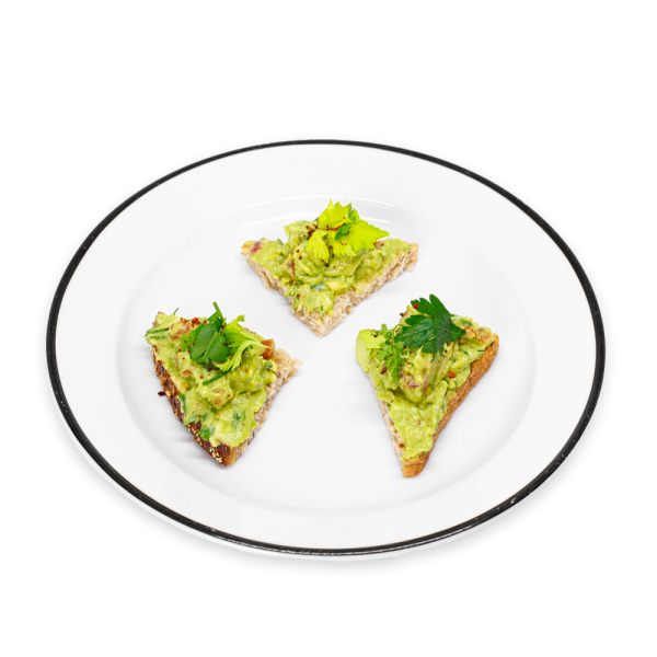 Avocado Toast on a white plate