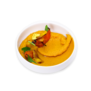 Carroy Hummus in a white bowl