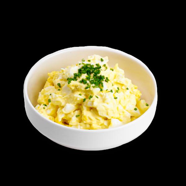 Egg Salad in white dish