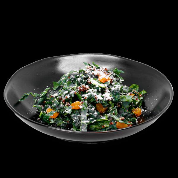 Kale Salad in a black bowl