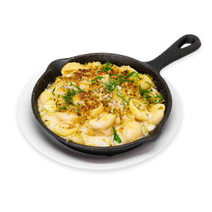 Mac and Cheese in a skillet