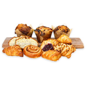 Assortment of Pastries on a wooden board