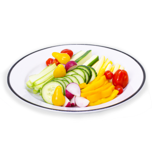 Plate of mixed vegetables