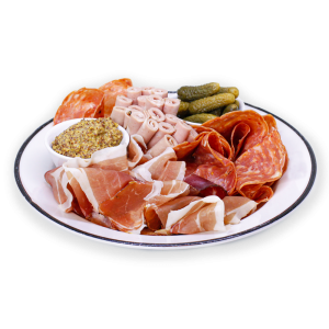Variety of Meats on White Plate