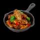 Koren BBQ Chicken Wings in Skillet